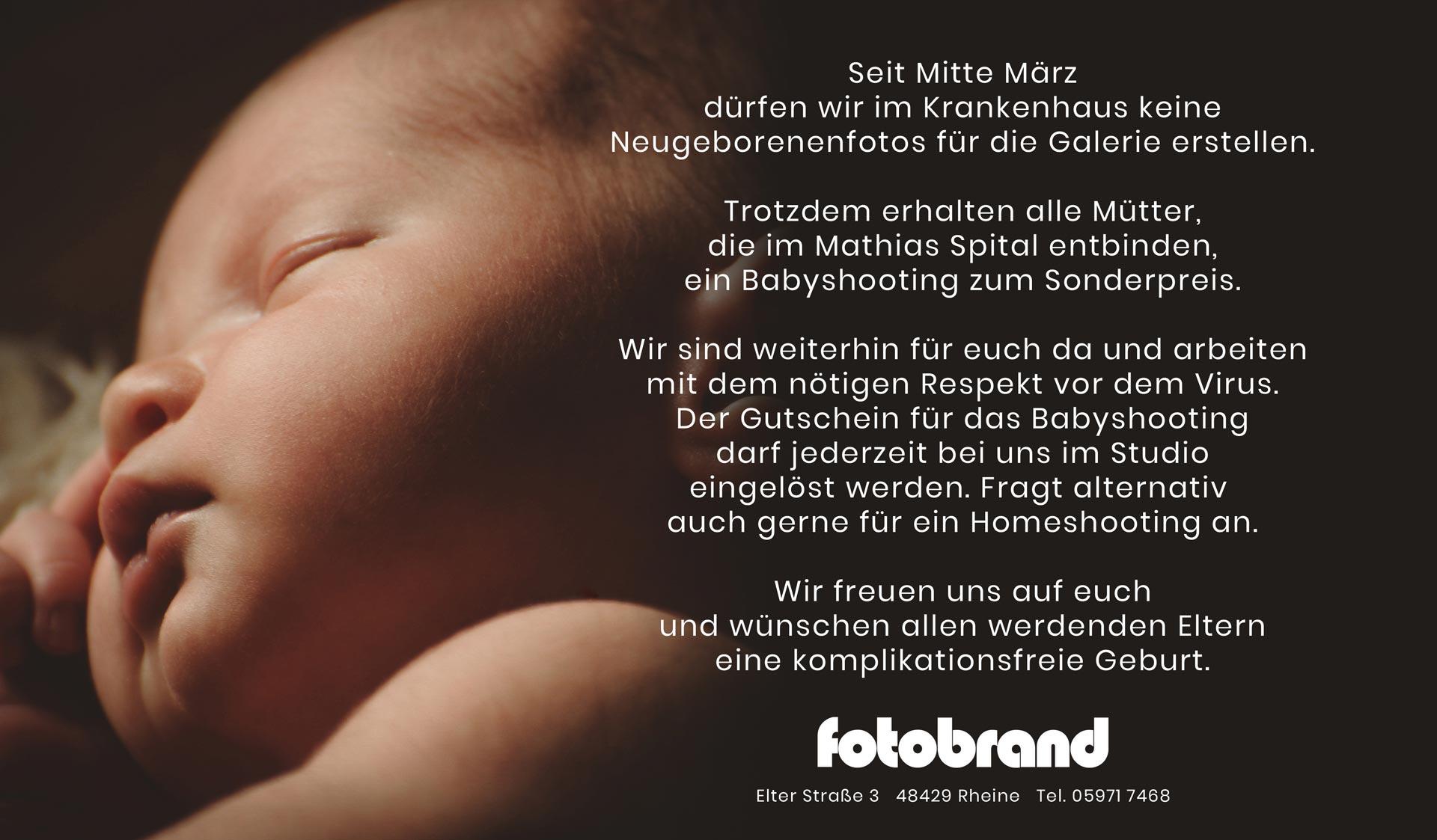 Foto Brand Rheine Babygalerie Mathias Spital